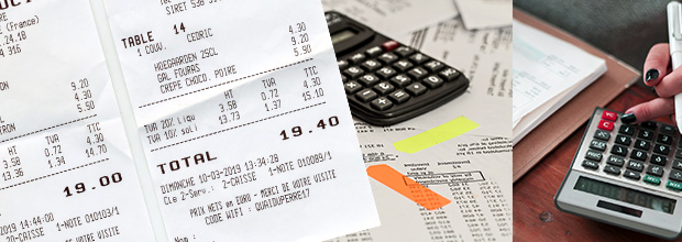 Justificatifs notes de frais